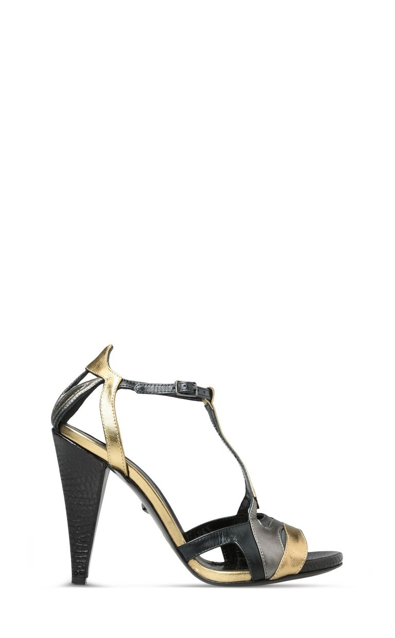 JUST CAVALLI Cone-heel sandals with buckle High-heeled sandals D f
