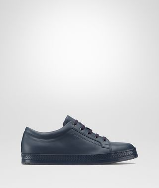 DIEZER SNEAKER IN DENIM CALF, INTRECCIATO DETAIL