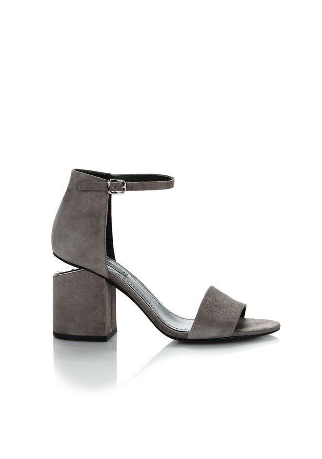 ALEXANDER WANG new-arrivals-shoes-woman EXCLUSIVE ABBY SUEDE SANDAL WITH RHODIUM