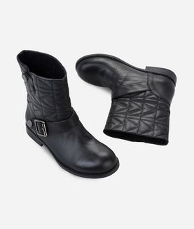 KARL LAGERFELD QUILTED BIKERBOOTS