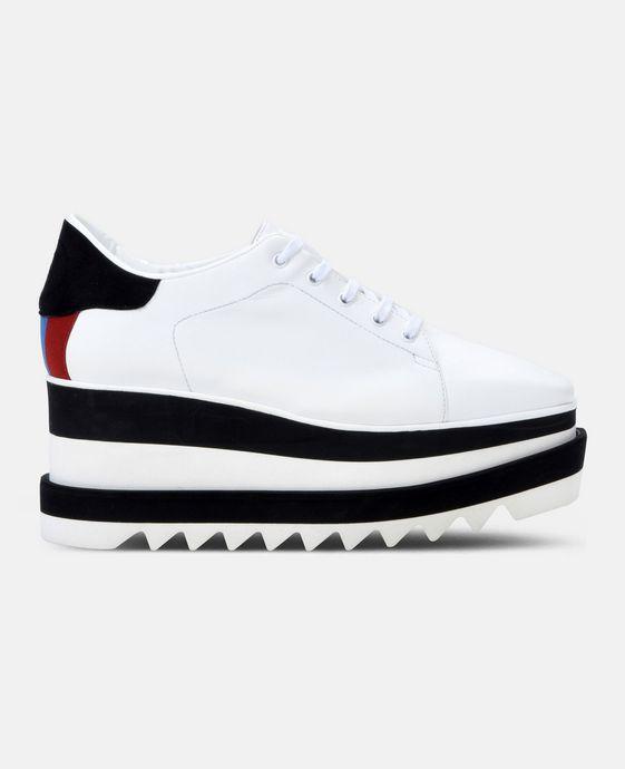STELLA McCARTNEY Black and White Sneak-Elyse Sneakers Woman c