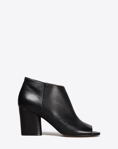 MAISON MARGIELA Sandals Woman Calfskin open-toe ankle boots f