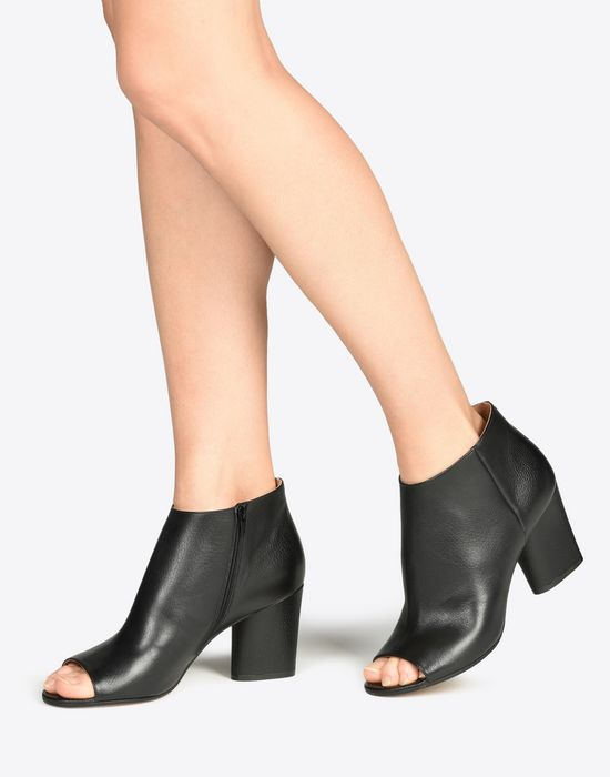 MAISON MARGIELA Calfskin open-toe ankle boots Sandals D b