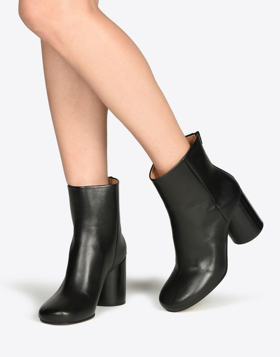 MAISON MARGIELA Calfskin Round-toe 'Socks' ankle boots Ankle boots Woman b