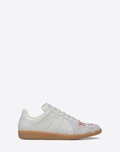 MAISON MARGIELA Sneakers [*** pickupInStoreShippingNotGuaranteed_info ***] 'Replica' paint drop sneakers f