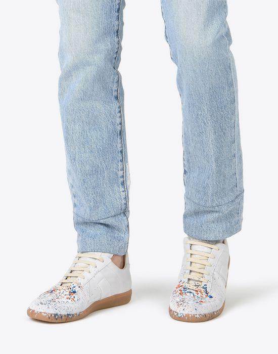 MAISON MARGIELA 'Replica' paint drop sneakers Sneakers [*** pickupInStoreShippingNotGuaranteed_info ***] b
