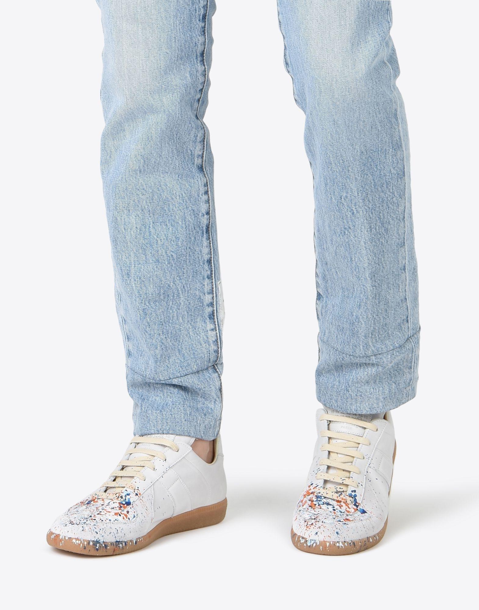 MAISON MARGIELA 'Replica' paint drop sneakers Sneakers Man b