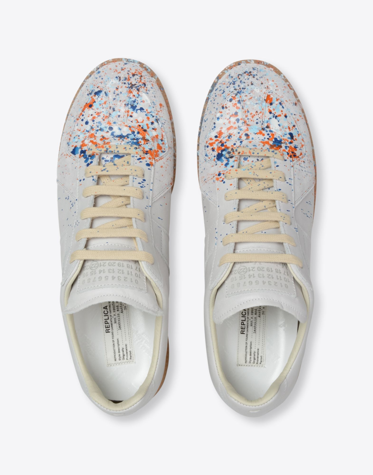 MAISON MARGIELA 'Replica' paint drop sneakers Sneakers Man d