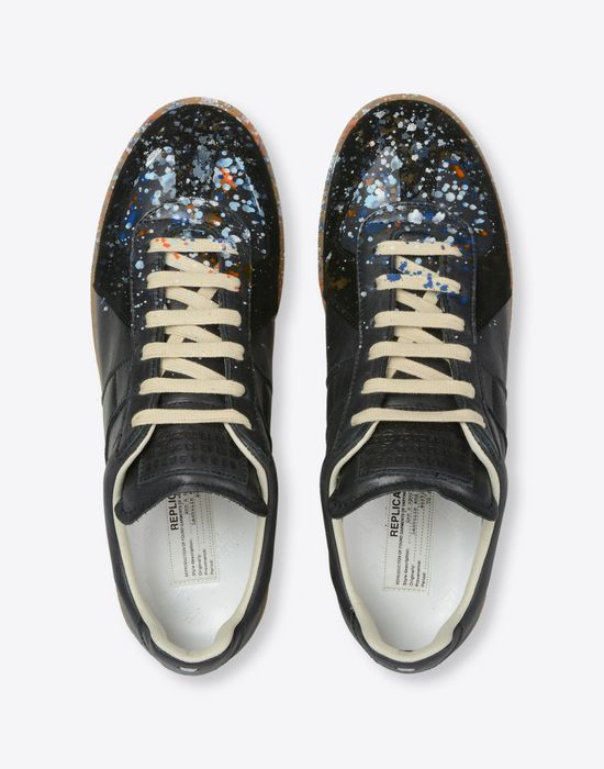 MAISON MARGIELA 'Replica' paint drop sneakers Sneakers [*** pickupInStoreShippingNotGuaranteed_info ***] d