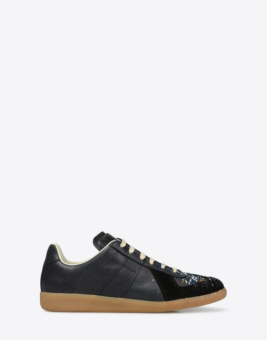 MAISON MARGIELA 'Replica' paint drop sneakers Sneakers [*** pickupInStoreShippingNotGuaranteed_info ***] f