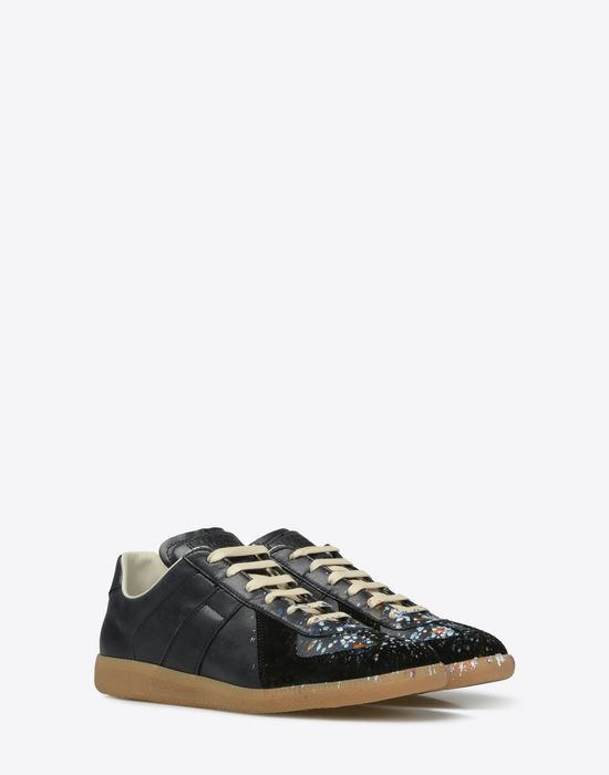 MAISON MARGIELA 'Replica' paint drop sneakers Sneakers [*** pickupInStoreShippingNotGuaranteed_info ***] r