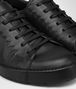 BOTTEGA VENETA THIBO' LACE UP SNEAKER IN NERO CALF, INTRECCIATO DETAILS Sneaker or Sandal U ap