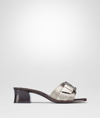 RAVELLO SANDAL IN LIGHT SILVER ARGENTO ANTIQUE NAPPA
