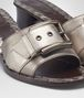 BOTTEGA VENETA RAVELLO SANDAL IN LIGHT SILVER ARGENTO ANTIQUE NAPPA Pump or Sandal Woman ap