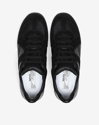 SHOES Low top calfskin Replica sneakers Black