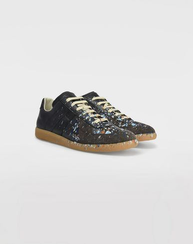 SHOES Low top paint drop Replica sneakers Blue