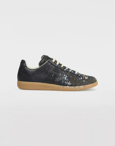 MAISON MARGIELA Sneakers Man Low top paint drop Replica sneakers f