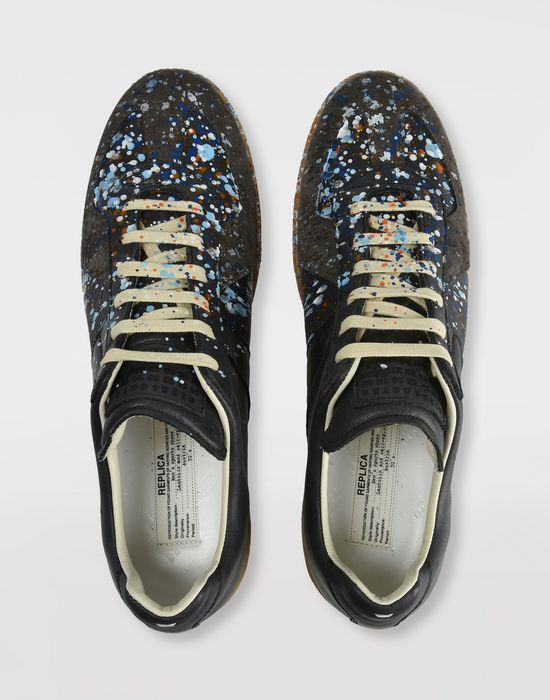MAISON MARGIELA Low top paint drop Replica sneakers Sneakers [*** pickupInStoreShippingNotGuaranteed_info ***] e
