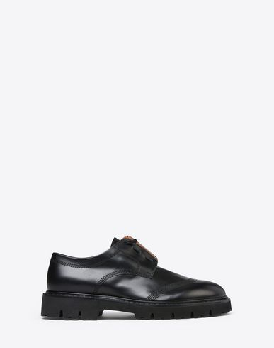 MAISON MARGIELA Laced shoes U Brushed calfskin combat Oxfords f