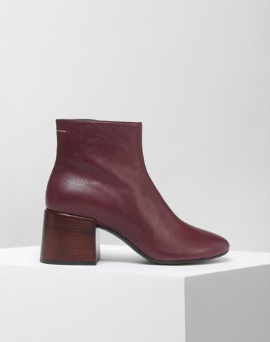 MM6 MAISON MARGIELA Ankle boots D Leather flared heel ankle boots f