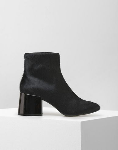 MM6 by MAISON MARGIELA Ankle boots D Calf hair flared heel ankle boots f