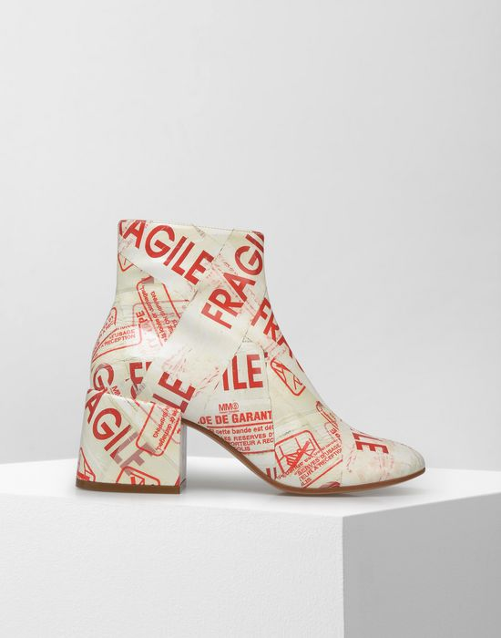 MM6 MAISON MARGIELA Flared heel FRAGILE ankle boots Ankle boots [*** pickupInStoreShipping_info ***] f