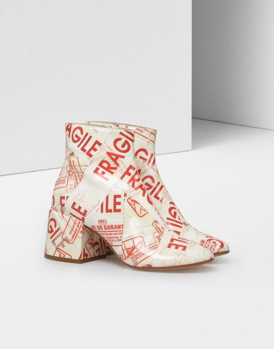 MM6 MAISON MARGIELA Flared heel FRAGILE ankle boots Ankle boots [*** pickupInStoreShipping_info ***] r