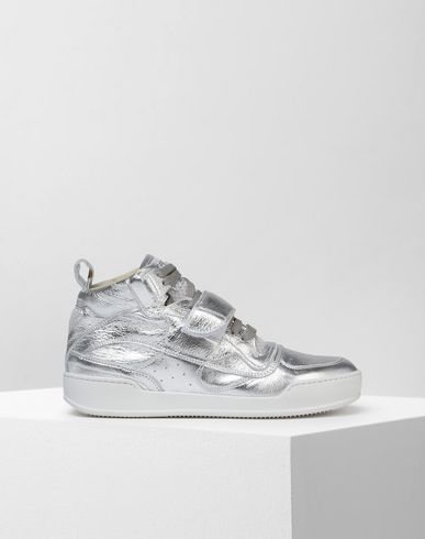 MM6 MAISON MARGIELA Sneakers D High top metallic calfskin sneakers f