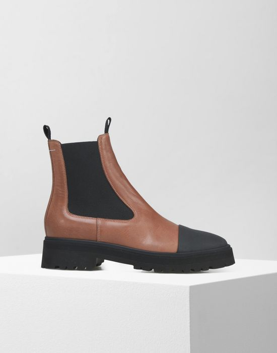 large discount fashionable patterns top-rated Maison Margiela Calfskin Chelsea Boots With Contrasting ...