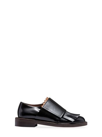 Marni Fringed lace-up in calfskin Woman