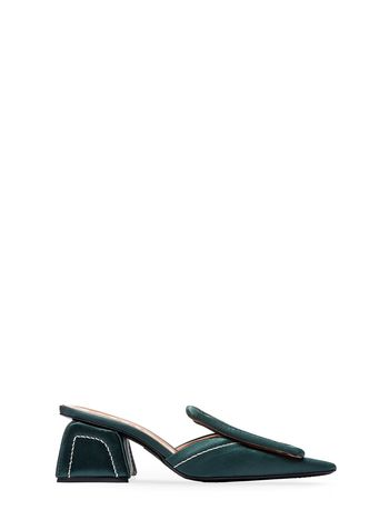Marni Satin mule with plate Woman
