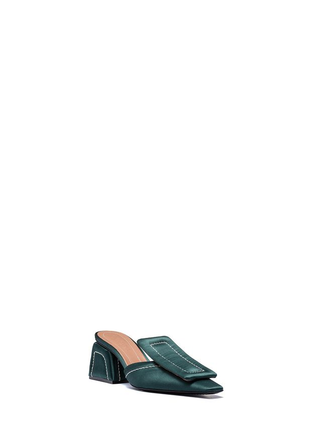 Marni Satin mule with plate Woman - 2