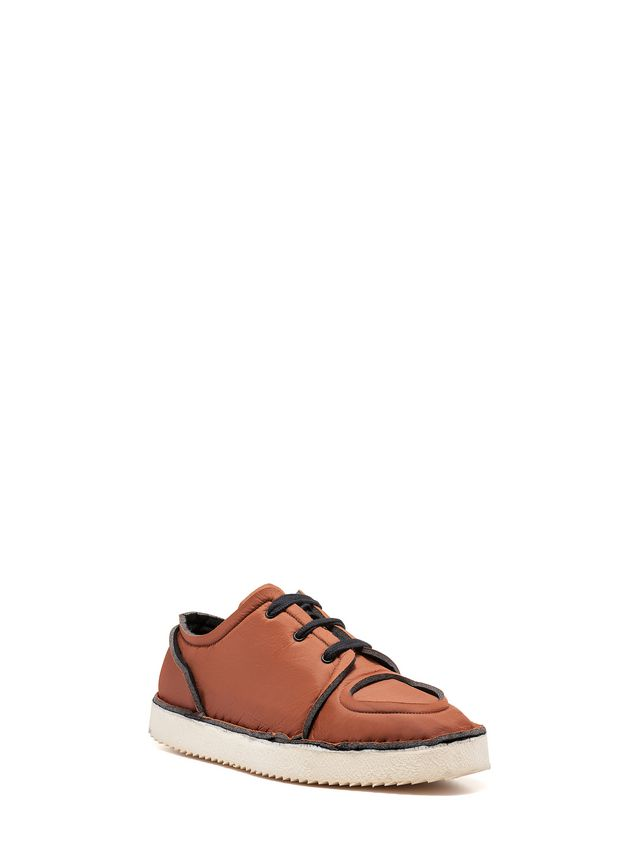 Marni MARNI OGG Sneaker in brown fabric Man - 2