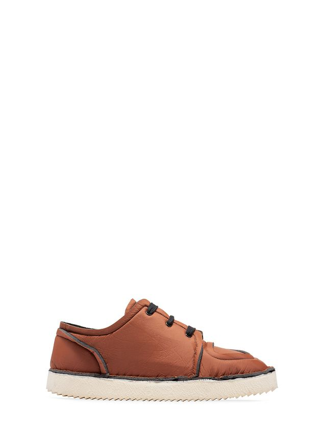 Marni MARNI OGG Sneaker in brown fabric Man - 1
