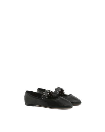 REDValentino Flower puzzle ballet flat