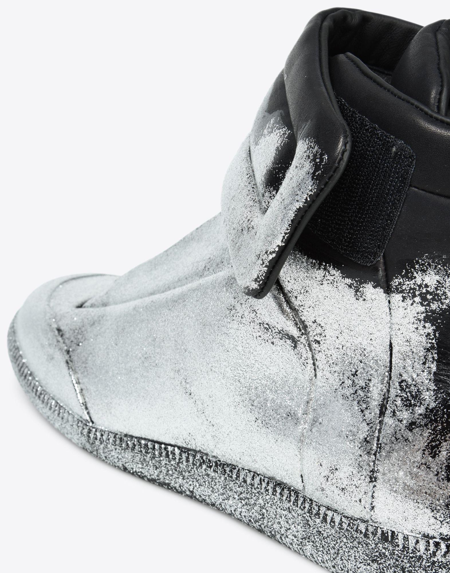 margiela scarpe brillantinate