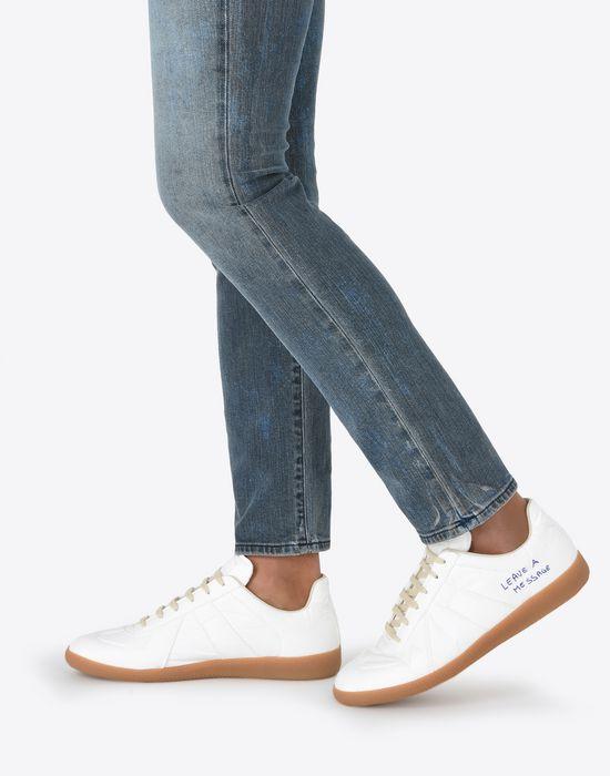 MAISON MARGIELA Sneakers «Replica» avec effet papier et stylo Sneakers Homme b