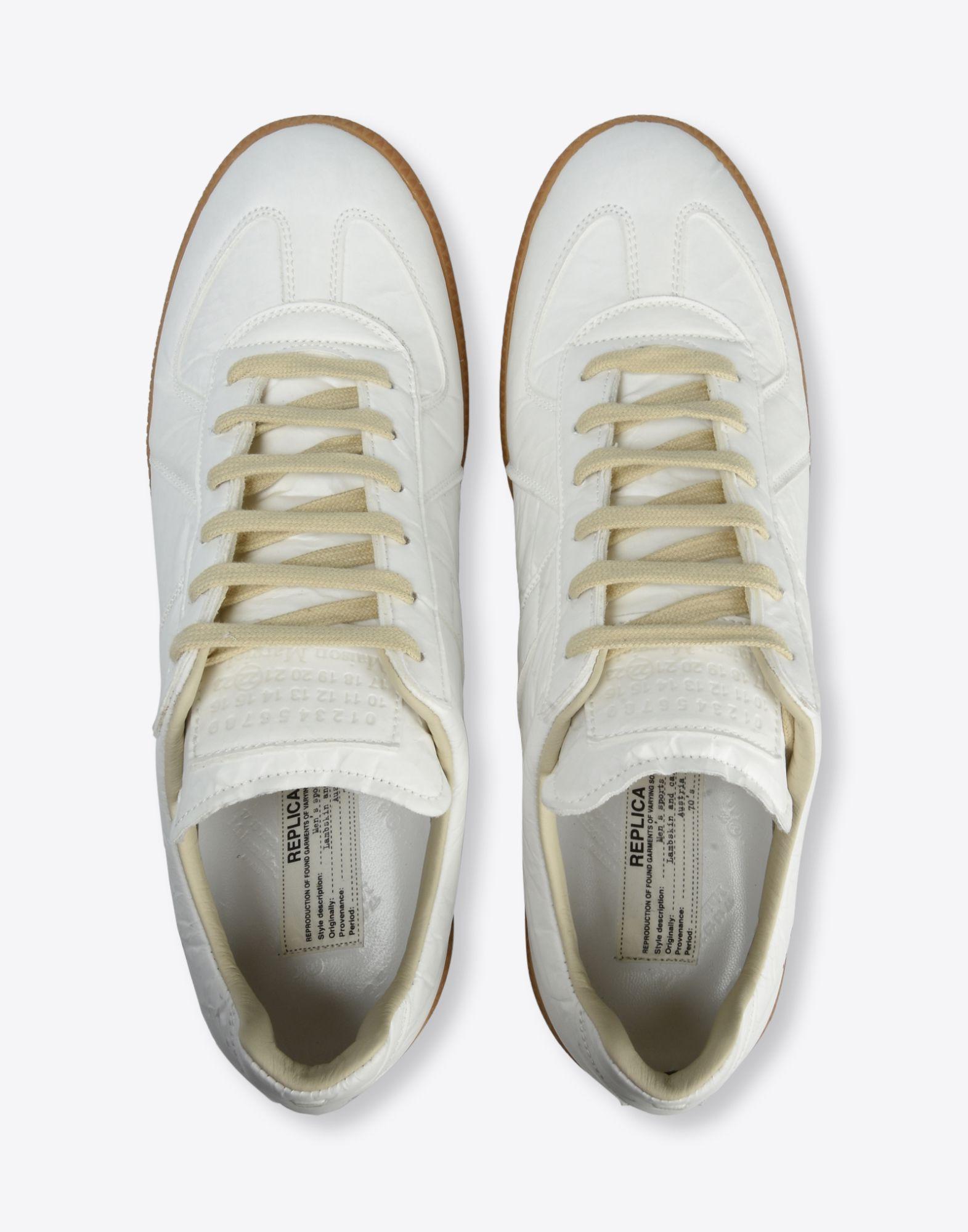 MAISON MARGIELA Sneakers «Replica» avec effet papier et stylo Sneakers Homme d