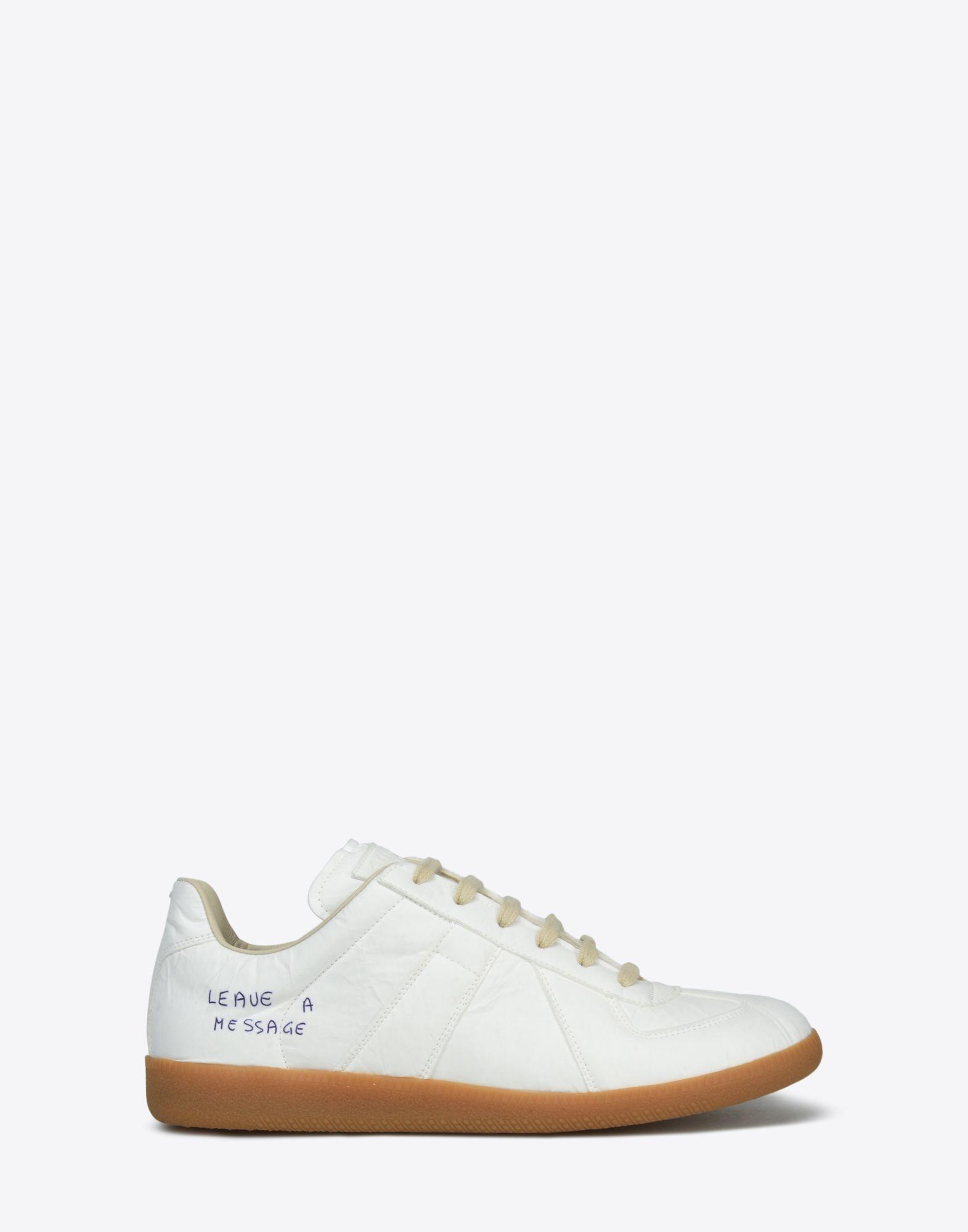 MAISON MARGIELA Sneakers «Replica» avec effet papier et stylo Sneakers Homme f