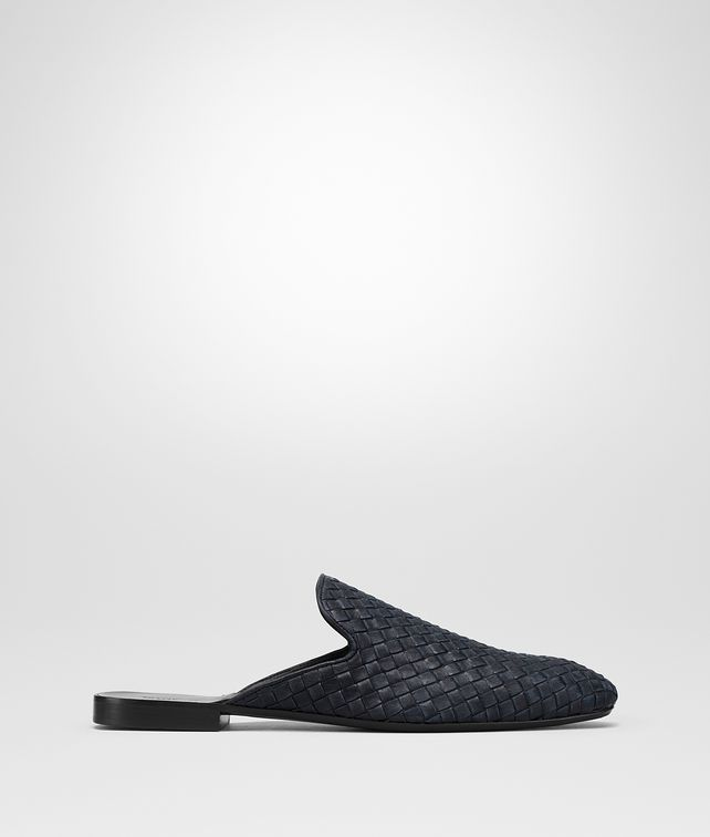 BOTTEGA VENETA DARK NAVY INTRECCIATO CALF SEAN SLIPPER Mocassin or Slipper Man fp