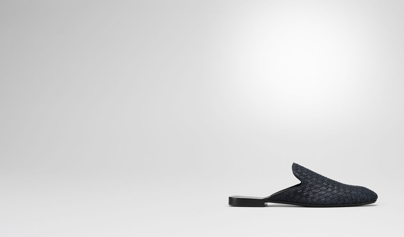 dark navy intrecciato calf sean slipper landing