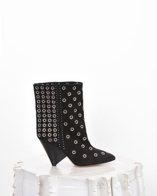 LAKKY suede ankle boots with eyelets