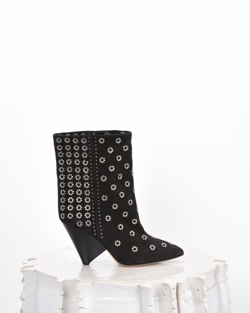 Isabel Marant Studded Suede Lakky Ankle Boots in . rqHPD6