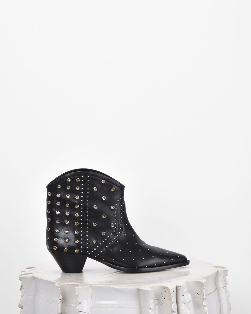 Isabel Marant Studded leather ankle boots Xx6cKYcyZX