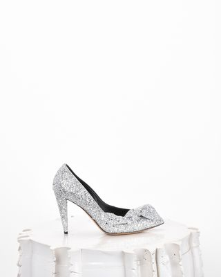 POETTY glitter high heels with a bow