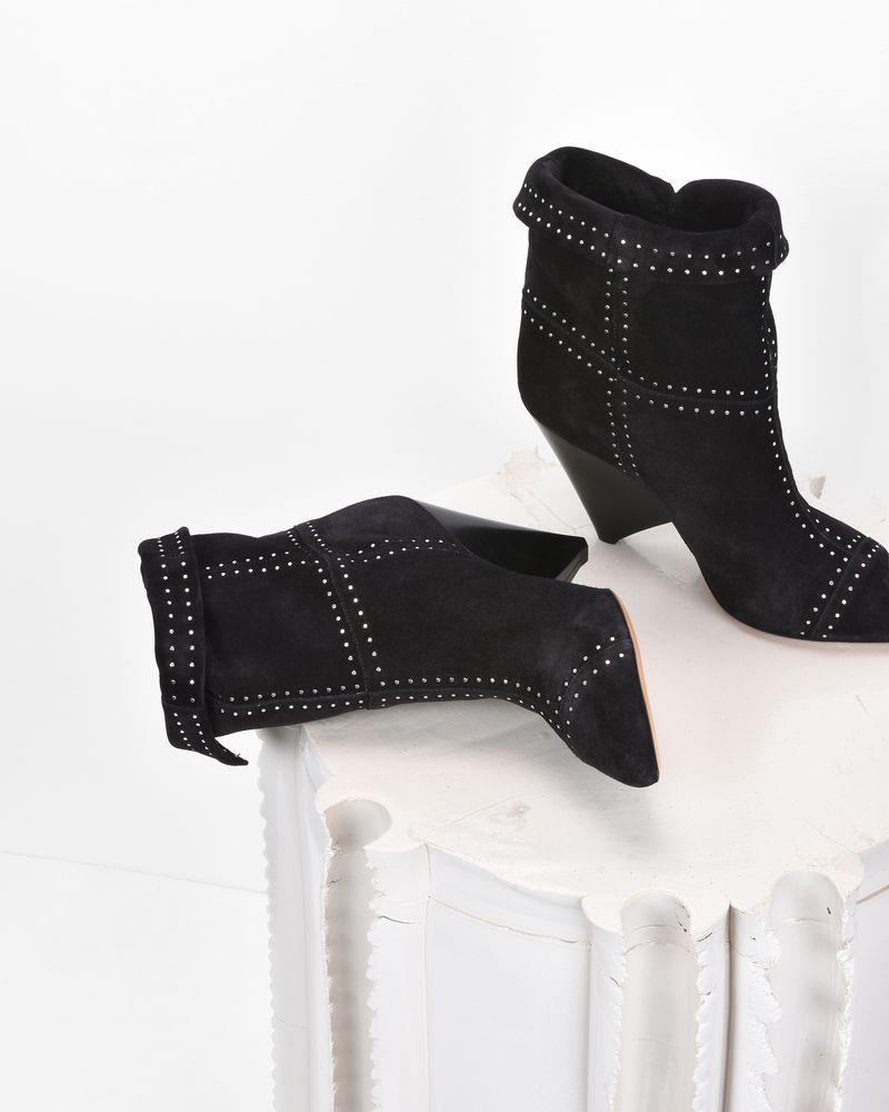 LIZYNN 钉饰绒面革踝靴  ISABEL MARANT
