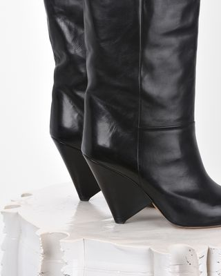 ISABEL MARANT BOOTS Woman LOKYO leather boots  d