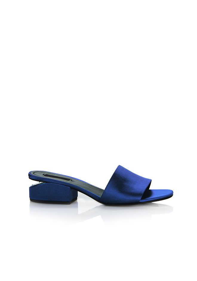 ALEXANDER WANG new-arrivals-shoes-woman LOU SATIN SANDAL WITH RHODIUM