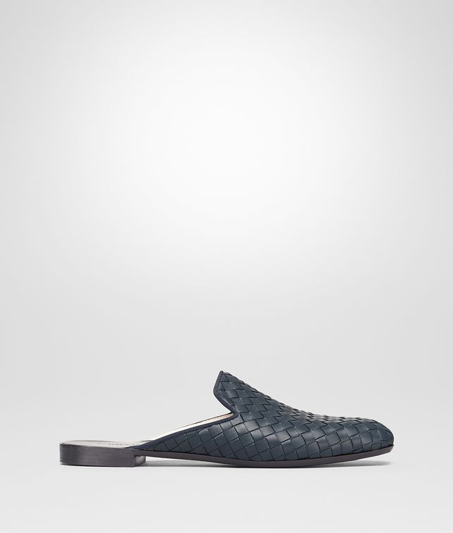 BOTTEGA VENETA FIANDRA SLIPPER IN DENIM INTRECCIATO NAPPA Flat Woman fp