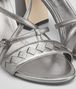 BOTTEGA VENETA CHERBOURG SANDAL IN ARGENTO ANTIQUE NAPPA, INTRECCIATO DETAILS Pump or Sandal D ap